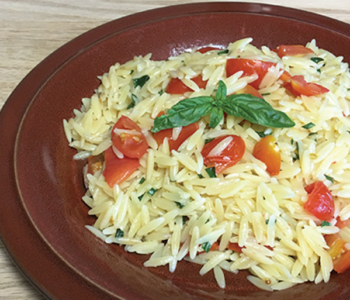 Basil Orzo for One