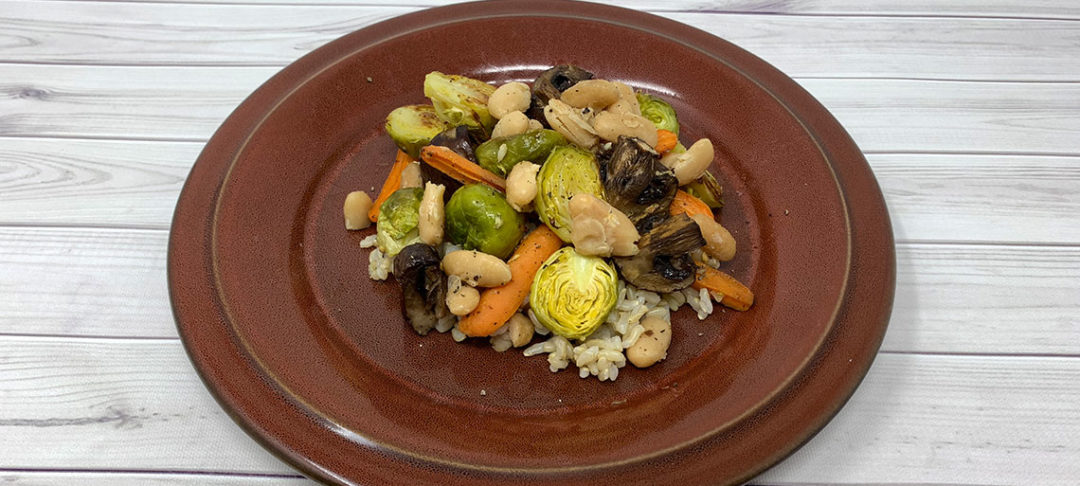 Brussels Sprouts Medley with Rice
